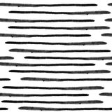 Het vector naadloze patroon van waterverfstrepen Abstracte grungelijnen royalty-vrije illustratie