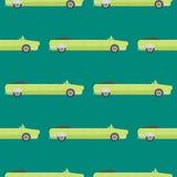 Het vector naadloze vervoer van de de limousine lange auto van de patroonluxe detailleerde de autobestelwagen van het bedrijfsver vector illustratie