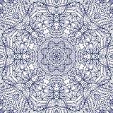 Het vector Naadloze Zwart-wit Overladen Art. van de Patroonlijn vector illustratie