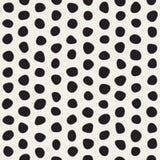 Het vector Naadloze Zwart-witte Allegaartje omcirkelt Patroon Royalty-vrije Stock Afbeelding