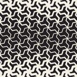 Het vector Naadloze Zwart-witte Geometrische Patroon van het de Lijnnet van Tessellation van de Driehoeksvorm Halftone Royalty-vrije Stock Fotografie