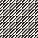Het vector naadloze zwart-witte halftone patroon van het lijnennet Abstract geometrisch Ontwerp als achtergrond Royalty-vrije Stock Afbeelding