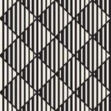 Het vector naadloze zwart-witte halftone patroon van het lijnennet Abstract geometrisch Ontwerp als achtergrond Stock Afbeeldingen