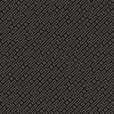 Het vector naadloze zwart-witte patroon van het lijnenlabyrint Abstract geometrisch strepenontwerp als achtergrond Stock Foto