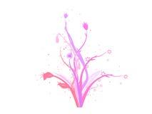 Het vector ontwerp van de bloemendecoratie Royalty-vrije Stock Foto's