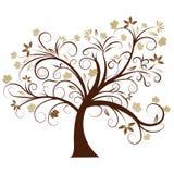 Het vector ontwerp van de de herfstboom Royalty-vrije Stock Fotografie