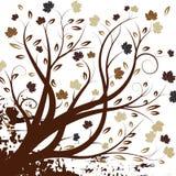 Het vector ontwerp van de de herfstboom royalty-vrije illustratie