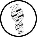 Het vector pictogram van DNA Royalty-vrije Stock Foto's