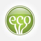 Het groene pictogram van Eco Royalty-vrije Stock Afbeeldingen