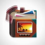 Het vector pictogram van het fotoalbum XXL Stock Foto