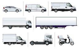 Het vector realistische model van het leveringsvervoer stock illustratie
