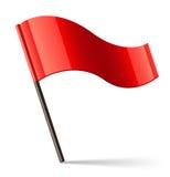 Het vector Rode Pictogram van de Vlag Royalty-vrije Stock Afbeelding