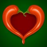 Het vector Roodgloeiende frame van de Spaanse peperspeper Stock Afbeelding