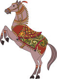 Het vector traditionele ontwerp/het embleem van het paardschild Royalty-vrije Stock Afbeeldingen