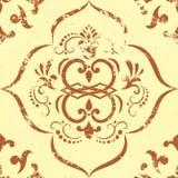 Het vector uitstekende element van het damast naadloze patroon. vector illustratie