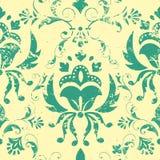 Het vector uitstekende element van het damast naadloze patroon. royalty-vrije illustratie