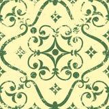 Het vector uitstekende element van het damast naadloze patroon. Stock Afbeeldingen