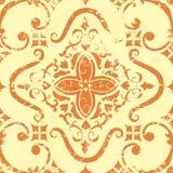 Het vector uitstekende element van het damast naadloze patroon. Royalty-vrije Stock Foto's