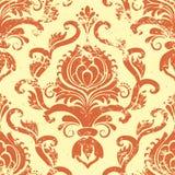Het vector uitstekende element van het damast naadloze patroon. Stock Foto's