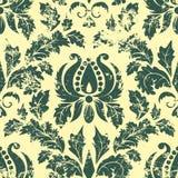 Het vector uitstekende element van het damast naadloze patroon. Royalty-vrije Stock Foto