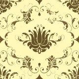 Het vector uitstekende element van het damast naadloze patroon. stock illustratie