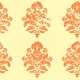 Het vector uitstekende element van het damast naadloze patroon. Royalty-vrije Stock Afbeelding