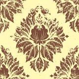 Het vector uitstekende element van het damast naadloze patroon. Stock Fotografie