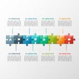 Het vector van de de stijlchronologie van het 8 stappenraadsel infographic malplaatje Stock Foto's