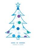Het vector verbonden silhouet van de puntenkerstboom Stock Foto