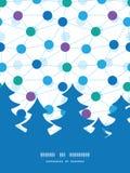 Het vector verbonden silhouet van de puntenkerstboom Stock Fotografie