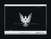 Het vector videoscherm, de speler Stock Fotografie