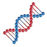 Het vector vlakke pictogram van DNA van de kleurenillustratie Royalty-vrije Stock Afbeeldingen