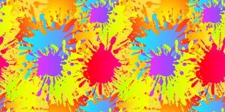 Het vector Vloeibare Vormen Naadloze Patroon, Verf ploetert, Achtergrondmalplaatje vector illustratie