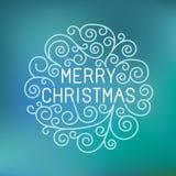 Het vector vrolijke Kerstmishand van letters voorzien Stock Foto