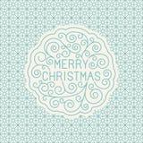 Het vector vrolijke Kerstmishand van letters voorzien Stock Foto's