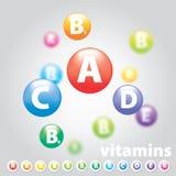 Verscheidenheid van vitaminen Stock Afbeelding