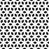 Het vector zwart-wit naadloze patroon, vat geometrische bloemenornamenttextuur samen Royalty-vrije Stock Afbeelding