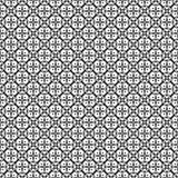 Het vector zwarte wit herhaalt ontwerpen Stock Fotografie