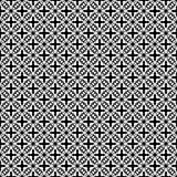 Het vector zwarte wit herhaalt ontwerpen Stock Afbeelding