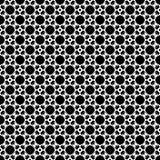 Het vector zwarte wit herhaalt ontwerpen Stock Afbeeldingen