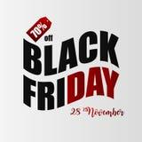 Het Vectorart. van Black Friday malplaatje Zaken royalty-vrije illustratie