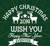 Het vectorart. van het Kerstmisleven Royalty-vrije Stock Foto's