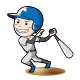 Het vectorbeeld van de honkbalconfrontatie vector illustratie
