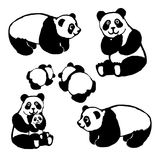 Het vectorbeeld van een panda draagt stock illustratie