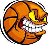 Het VectorBeeld van het Gezicht van de Bal van het basketbal Stock Afbeelding