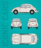 Het vectorbeeld van Volkswagen Beetle royalty-vrije stock afbeeldingen