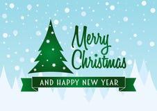 Het vectorconcept van het Kerstkaartontwerp Stock Afbeeldingen