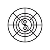 Het het vectordieteken en symbool van het horoscooppictogram op witte backgrou wordt geïsoleerd vector illustratie