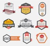 Het vectordossier wordt georganiseerd in lagen aan afzonderlijke Grafische elementen Royalty-vrije Stock Fotografie