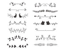 Het vectorelement van de verdelers kalligrafische lijn Royalty-vrije Stock Afbeelding